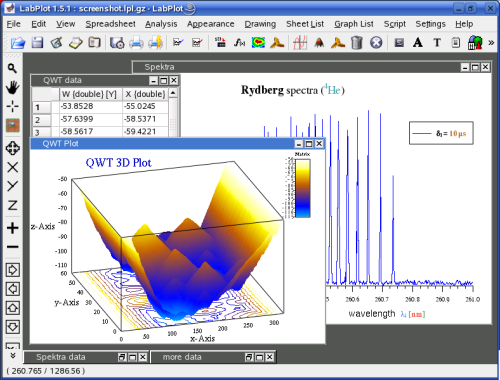 3D surface plot in LabPlot 1.6
