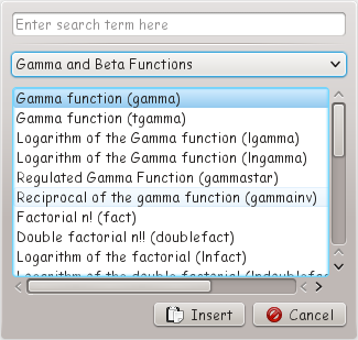 functions dialog