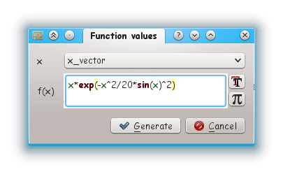 generate function values