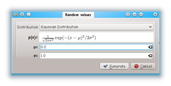 generate random values