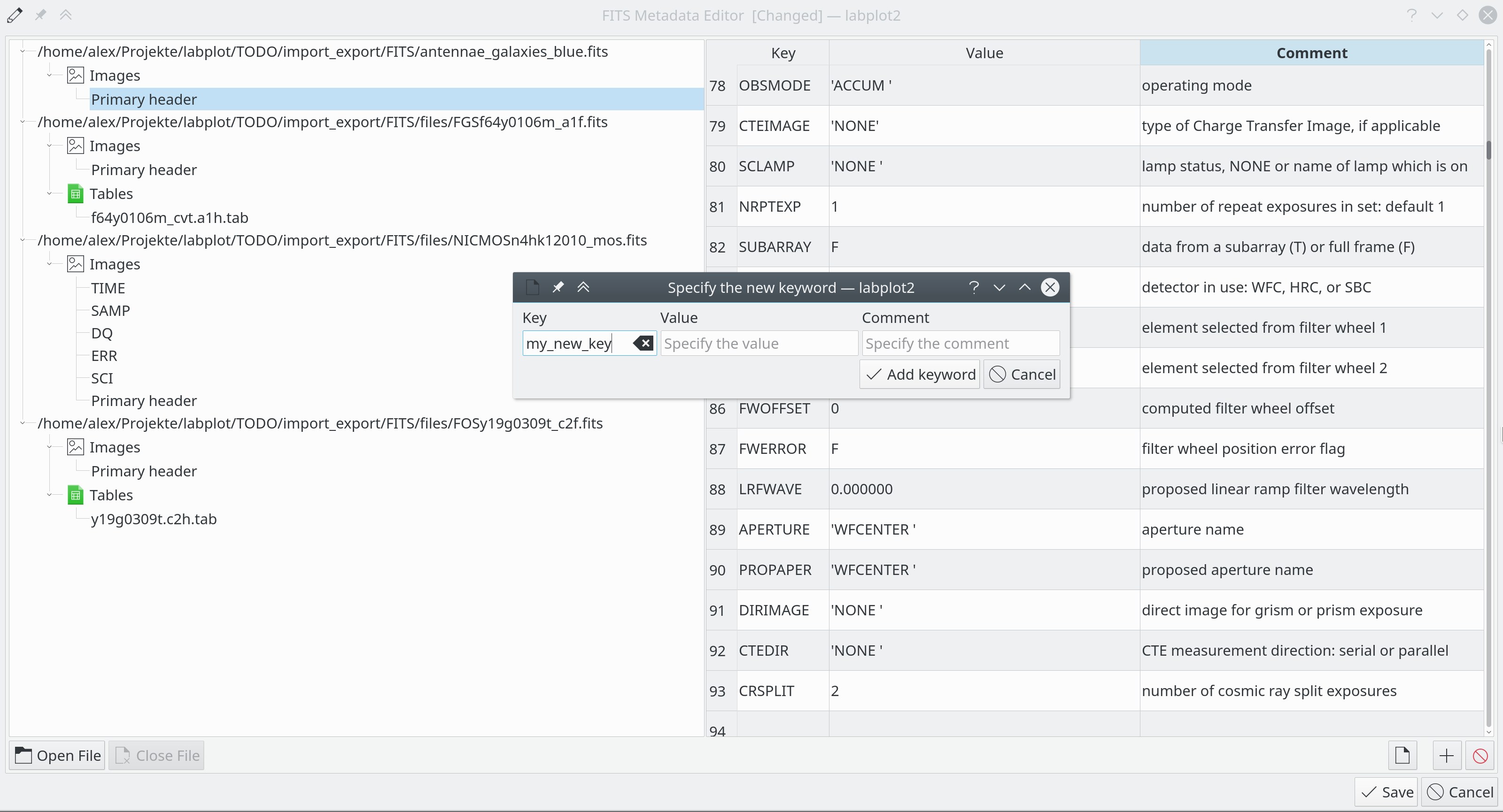 FITS Metadata Editor