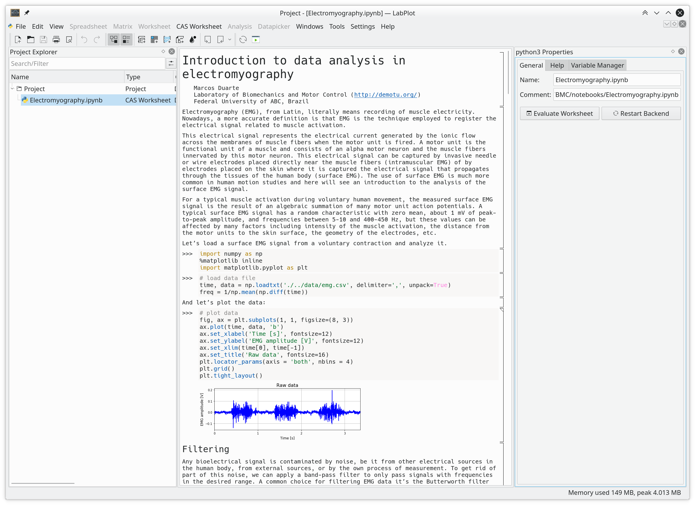 Jupyter Python Notebook